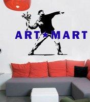 Banksy Flower Bomb Vinyl Wall Art Decal NO.470 ART MART