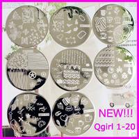 Stamping Nail Art    10pcs/lot  Qgirl Stamping Plates 20 Designs Free Shipping