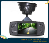 "Ambarella Newest Original GS9000 Car dvr 2.7"" LCD 178 Degree Wide Angle full hd1920X1080P 720P 60fps with GPS G-Sensor"
