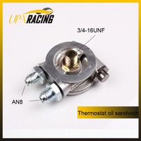 Performance parts AN8 New Arrival Promotion Iso9000 High Performance Oil Cooler Sandwich Plate for Thermostat Adaptor