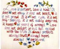 2014 New Handmade Needlework Embroidery Set European 14ct Unprinted Cross Stitch Kit Love Is Patient Heart Wedding gift 28*32cm