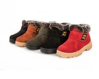 Free Shipping!2014 new Genuine Leather child snow Boots Baby Boots Kids Shoes Baby child real Leather snow Boots