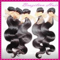 Quality Verified 100% Brazilian virgin body wave human hair weaves 4pcs/5pcs deal grade 7A wavy texture,NO Lices fast shipping