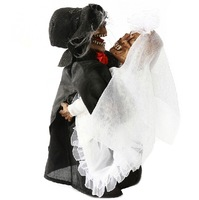 Free Shipping !!! Wholesale 5pcs/lot Halloween Rotation Dancing Ghost Bride Groom Horror Decoration Good Price High Quality#H133