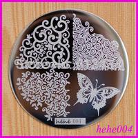 Free Shipping   8pcs/lot  hehe004  Konad Image Plates hehe001-060