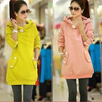 2014 new Women Korean  Winter Warm Hoodies Sport Hooded Outerwear Women Sweatshirts