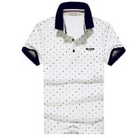 Male short-sleeve T-shirt 2014 polo shirt male short-sleeve T-shirt 100% cotton slim turn-down collar t-shirt male