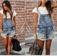 Gagaopt 2014 Fashion Denim Rompers or shorts