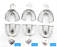 Free Shipping Dental Materials Stainless Steel Impression Tray 3 Pairs / pack,Including (Large Medium Small)