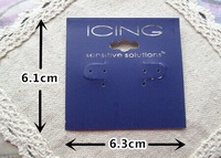 Wholesale Fashion Jewelry Package ICING  Earring Cards Dark Blue And Light Blue Available