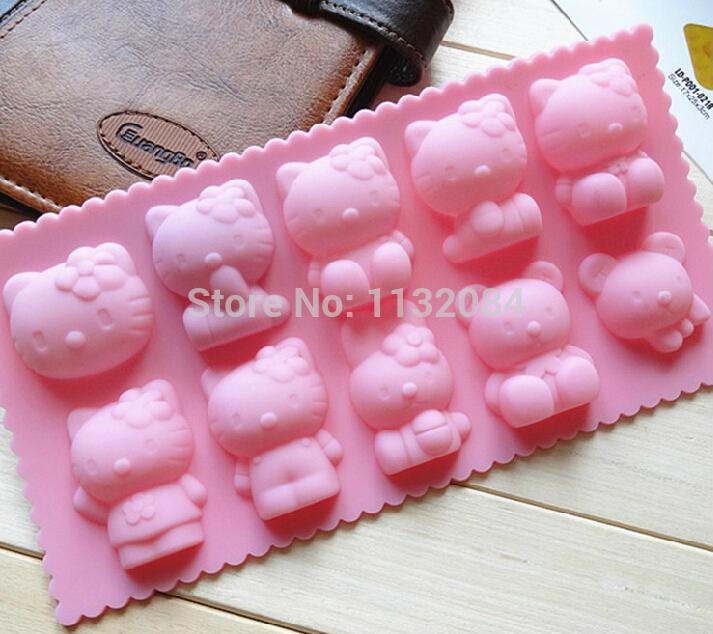 10 estilos / lote olá kitty forma molde de açúcar Arts definir Fondant bolo cortadores ferramentas / cookie de Chocolate grátis frete(China (Mainland))