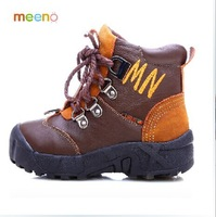 2014 winter The boy cowhide boots Waterproof warm baby wool cotton boots The boy high for real leather boots Baby shoes