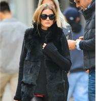Winter 2014 the explosion models popular the long section grass leather jacket fox women faux fur coat vest-060