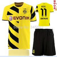thailand quality 14/15 Borussia Dortmund Home #11 REUS Soccer jersey with short ,2015 new jersey set