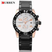 New 2014 Curren 8038 Quartz Watch men's Stainless Steel Wristwatches Date Casual Watch Analog Sports watches