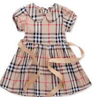 Children Girls Brand Dress New Summer Baby Grils Princess Dresses pageant/Petti Kids/Children Plaid Dress