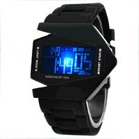 Digital 2014 New Arrive Hot Sale Led Silicone Women Lady Girls Watches Sport Digital Watch Plane Watch