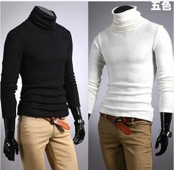 2014 NEW Мужские зимние WarmTurtleneck пуловер Тепловая свитер нескольких вариант цвета Твердотельные Мягкий и теплый бесплатная доставка MTL088