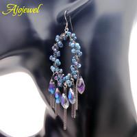2014 bohemian water drop Austrian crystal new earrings for women big drop dangle earrings top quality