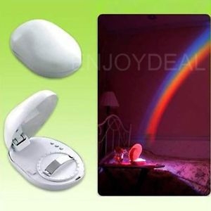 New Arrival Beautiful LED Rainbow Light Projector Romantic Projection Lamp for Couples #2014 Free Shipping(China (Mainland))
