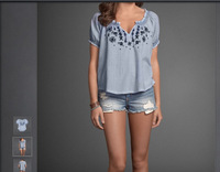 2014 wholesale summer vest brand women t shirt  casaul  with brand name hot sale t shirt women free Shipping