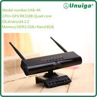 2014 New Best Sales High  Quality Android Tv Box RK3188 Quad Core 5.0M Camera Smart Tv Box wholesale 5pcs/lot DHL Free Shipping