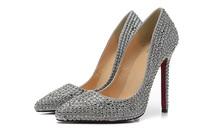 2014 summer new 12 cm high heel women pump. luxury patent leather peep toe strass pumps