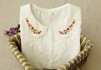 Blusas femininas 2014 Women lace blouse fashion clothes ladies blouse & shirts embroidery atacado roupas vestidos casual blusas