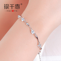 Silver but 925 silver dolphin bracelet female fashion jewelry day gift girlfriend gifts