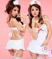 2014 New Sexy Nurse Sexy Costume Doctor Uniform Fancy Dress Garter Stocking Erotic Lingerie Halloween Costumes for Women