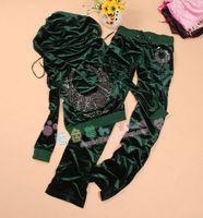 Spring and autumn gold velvet sports set female fashionable casual sportswear set women's plus size
