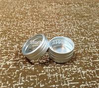 Free Shipping 10g (100pcs/lot)  Aluminum Case 10g Round Matte Aluminum Can Aluminum Container Tea Tin with window lid wholesale