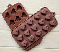 Baking Tools for Cakes free Shipping-2014new! 1pcs Love Hearts Diy Chocolate Ice Mould Cake Mold Silicone Cake/chocolate/cookie