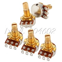 1 Set Of 5 A250K OHM Audio Volume Guitar Potentiometer With 18mm Shaft