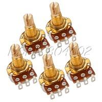 5pcs B250k 18mm Shaft Electric Guitar Control Potentiometer
