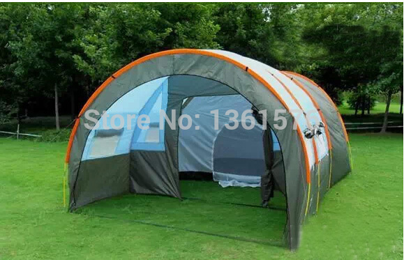 Supply of 10 people tent camping tent tents outdoor leisure dream team blue tent(China (Mainland))