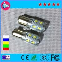 Free shipping Brake lamp, reversing lamp super bright S25 1156/1157-12SMD+CREE LED steering lamp real turn signal