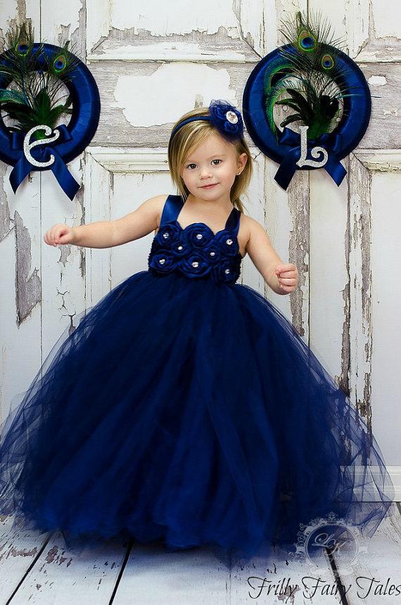 Flower Girl Dresses Navy Blue Uk 97