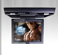 "15"" HD Digital TFT LCD SCreen Car Flip Down Monitor , headphones+1440*900+Game+DVD/USB/SD+FM/IR, Auto Ceilling DVD Player"