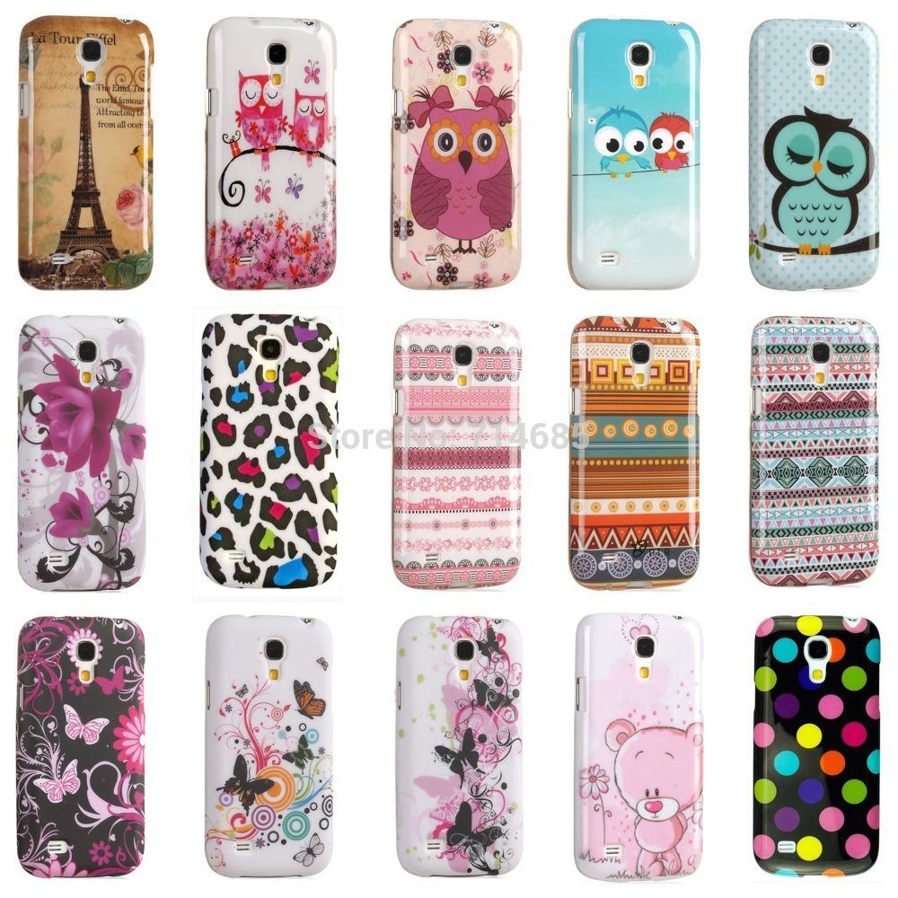 Luxury Eiffel Tower Indian Polka Dots Owl TPU Silicon Phone Case for Samsung GALAXY S4 mini Cover Skin S4mini i9190 i9192 i9195(China (Mainland))