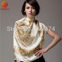 Free shipping  women High-grade silk scarf generous towel authentic