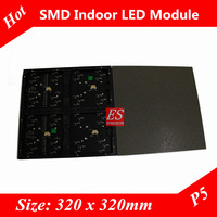 Directly Factory Price! P5 Digital LED Screen Module Indoor SMD3528 Full Color 4in1 Module Size 320mm x 320mm with Bracket