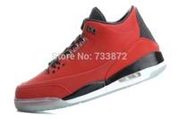 2014 New good quality men cheap retro 3 J3 5LAB3 black/red basketball shoes