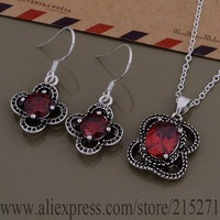 SY-AS550 925 sterling silver Jewelry Sets Earring 683 + Necklace 999 /bfqajwxa fbvantca