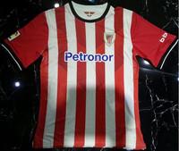 New Jersey Tailandia Qualidade Athletic Bilbao 14/15 Longe Green home Athletic Bilbao jersei de futebol vermelho e branco
