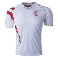 In stock A+++ New Spain Sevilla Blouse 14 15 Thai Seville 2014 2015 Home Soccer Jersey Futbol Sweatshirt Camisa