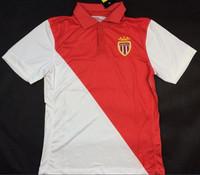 AS Monaco 2015 soccer jersey 14 15 AS Monaco FC FALCAO MOUTINHO red and white jeresy 2015 AS Monaco maillot de foot Free ship