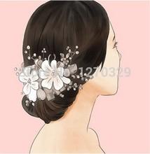 elegante beige bella in rilievo di cristallo fiori da sposa accessorio dei capelli spedizione gratuita copricapo / cappello del partito di trasporto libero(China (Mainland))