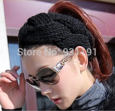 10 Color Free Shipping Women Yoga Sports Casual Fashion Wool Knitted Headbands Twist Hair Bands Headwear AL075(China (Mainland))