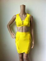 Free shipping Top quality 2014 vestido de festa dress party evening elegant  HL bandage dress celebrity dresses